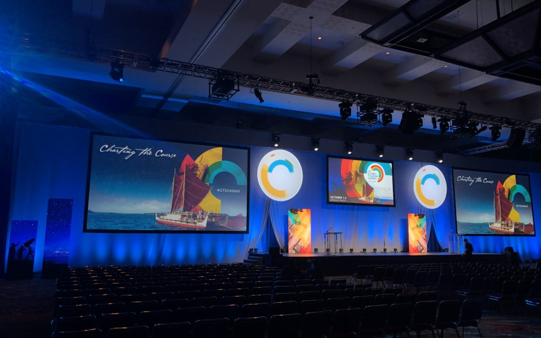 Global Tourism Summit 2018 – HCC Ballroom Time Lapse Video