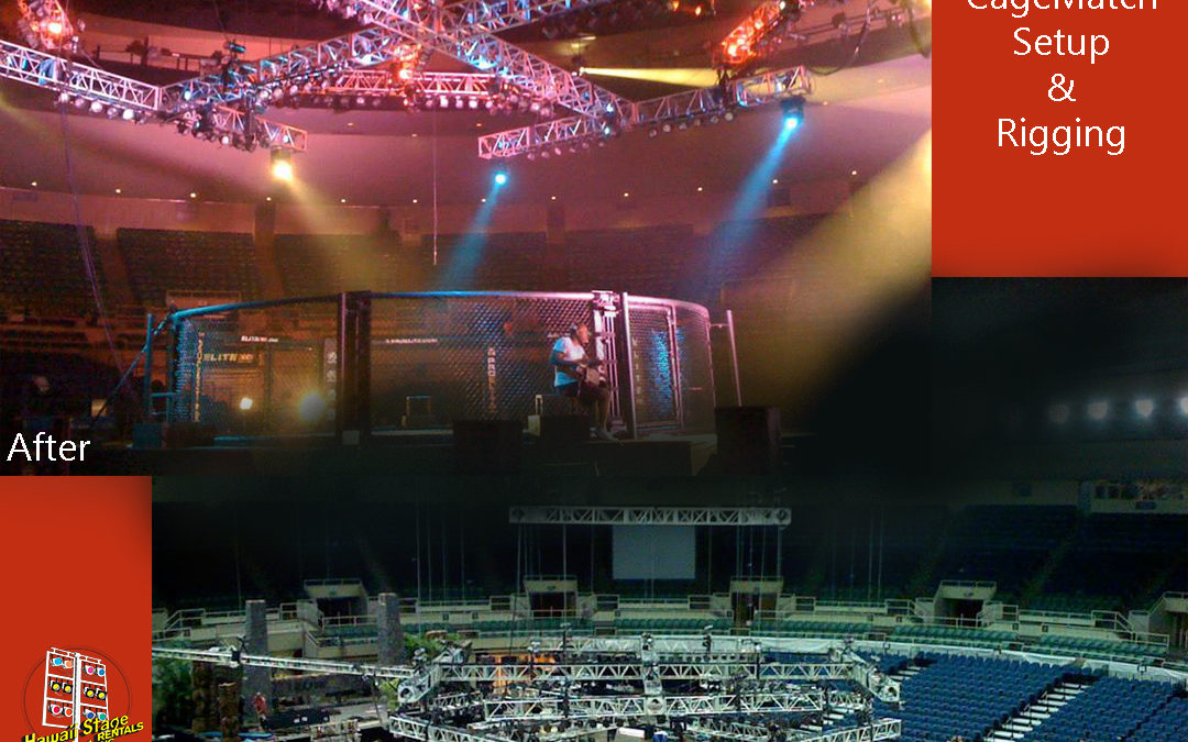 UFC Cagematch – Rigging and Lighting Display
