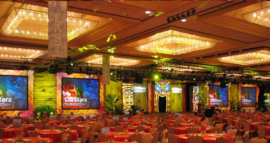 Hilton Hawaiian Village Coral Ballroom – 'Tiki' themed event