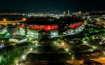 "Halloween Night at Aloha Stadium featured the ""Trunk and Treat Drive-Thru"""
